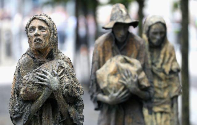 A Famine memorial in Dublin, Ireland