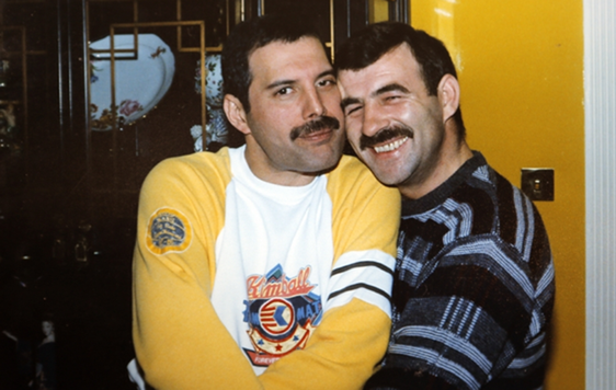 Freddie Mercury and Jim Hutton.