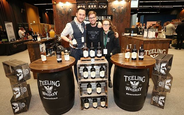 The Teeling stand at the Whiskey Live Dublin.