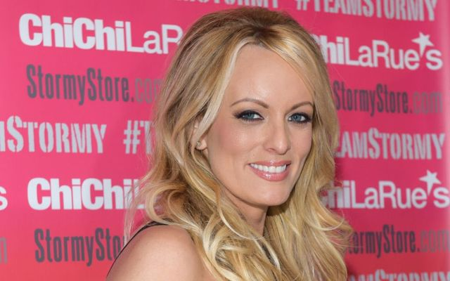 Stormy Daniels attends a fan meet-and-greet at Chi Chi LaRue\'s on May 23, 2018, in West Hollywood, California.