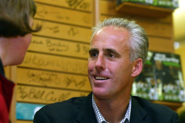 Former Ireland player and manager Mick McCarthy photographed in 2002 signing his book at Easons.