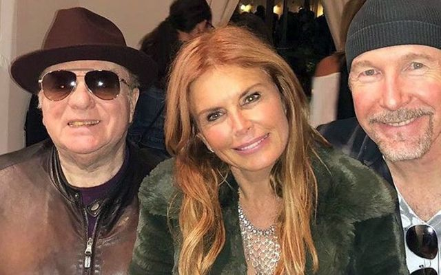 Van Morrison, Roma Downey and The Edge at a fundraiser for the victims of the Malibu fires.