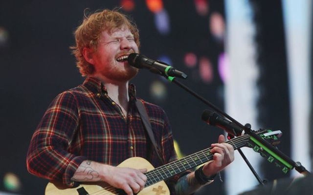 Ed Sheeran performs in Dublin