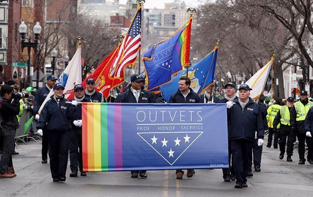 OutVets taking part in their first Southie St. Patrick's Day parade in 2015.