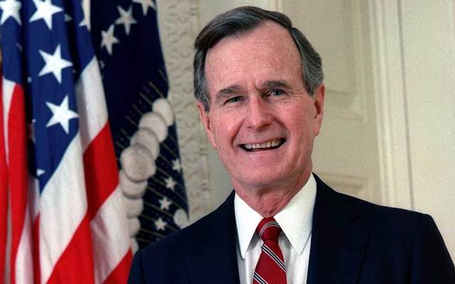 1989 official portrait of George H. W. Bush, former President of the United States of America.\n\n