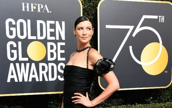 Caitriona Balfe at the 2018 Golden Globes