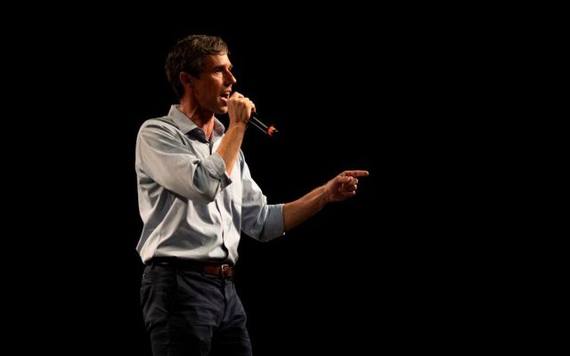 Texas Representative and Senatorial Democratic Party Candidate Beto O\'Rourke delivers a speech at the University of Texas in El Paso, Texas, on November 5, 2018, the night before the U.S. midterm elections.
