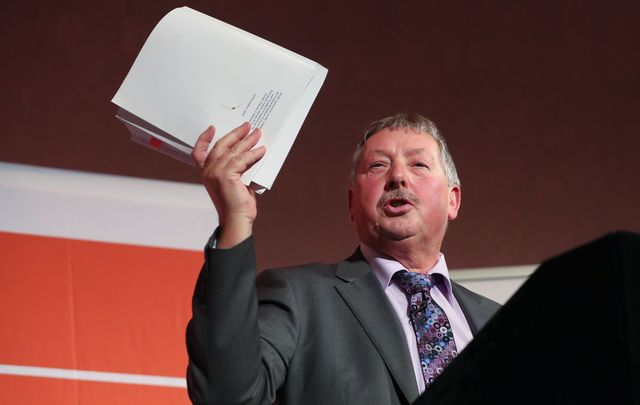 MP Sammy Wilson at the Leave Means Leave rally on Dec 14