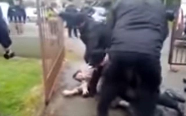 Scenes of violence carried out by British ex-soldier Ian Gordon\'s security team in Roscommon last Tuesday.