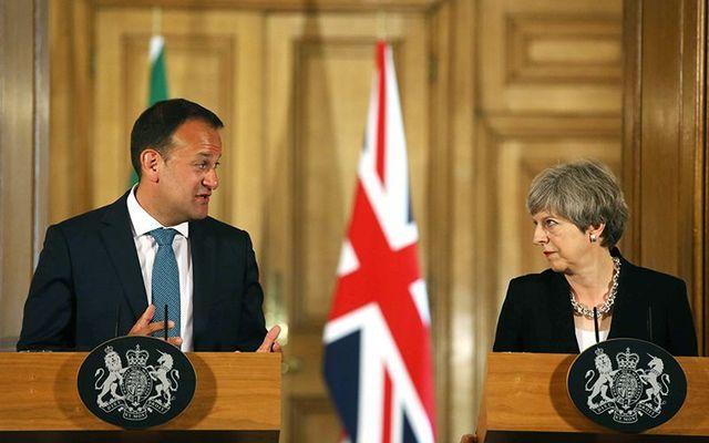 Irish leader Leo Varadkar and British Prime Minister Theresa May.