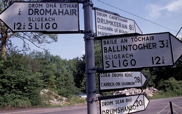 "A road sign in County Sligo: Think about it how many places with ""bally\"" in the name in Ireland can you think of? A LOT!"