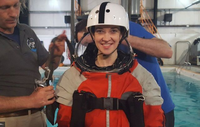 Dr Norah Patten in training to become the first Irish astronaut.