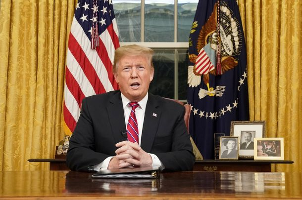 President Donald Trump addresses the United States on the southern border issue and immigration.