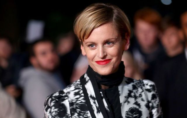 "Denise Gough attends the UK Premiere of ""Colette\"" and BFI Patrons gala during the 62nd BFI London Film Festival on October 11, 2018, in London, England."