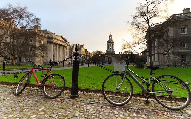 Bicycles on the Trinity College Dublin campus