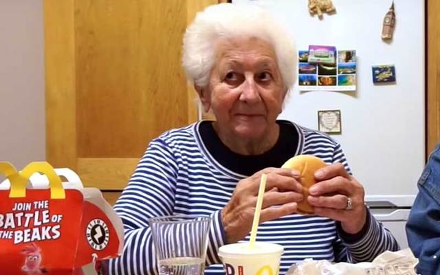 An Irish grandmother tries McDonald\'s for the first time.