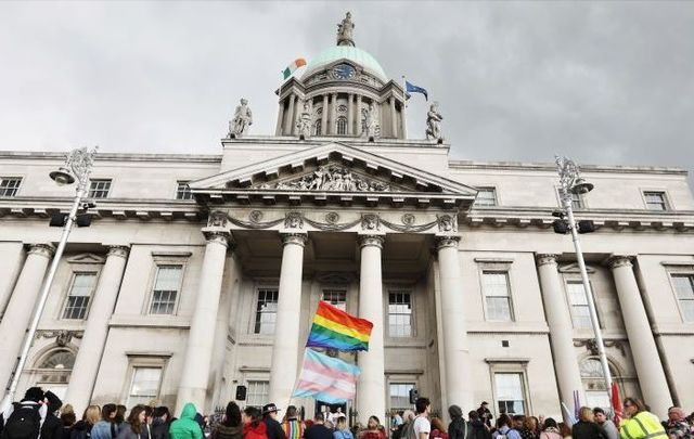 The Trans Pride parade in Dublin, 2018.