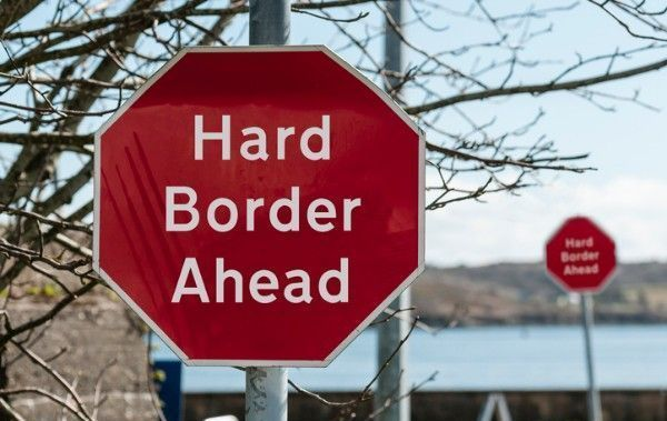 """An EU official says that a hard Irish border is \""""pretty obvious\"""" in the event of no Brexit deal"""
