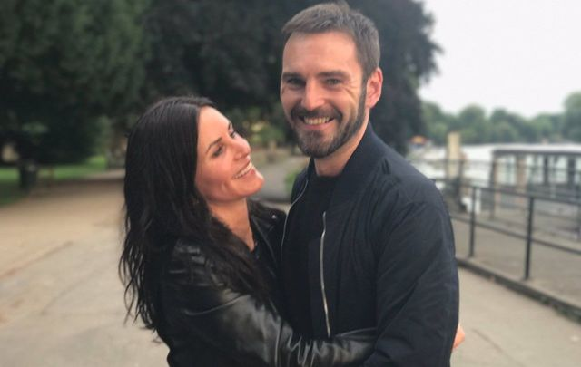 "Courtney Cox on his ""guy one\"" Johnny McDaid."