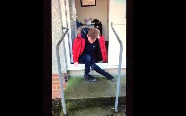 Kenneth Murphy has to crawl out of his home because he does not have a ramp.