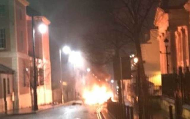 """A car bomb attack outside a Derry courthouse earlier in January has been claimed by a group calling itself the \""""IRA.\""""\n\n"""