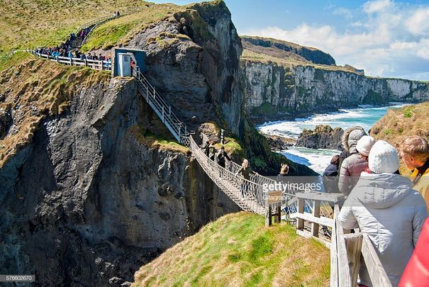 Carrick-a-Rede Rope Bridge, a popular tourist destination in Northern Ireland.