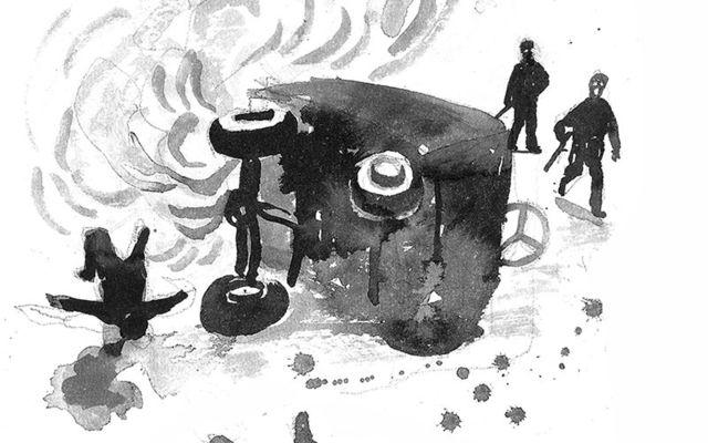 An illustration of that bloody ambush at Soloheadbeg.