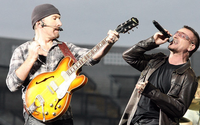 U2\'s The Edge and Bono.