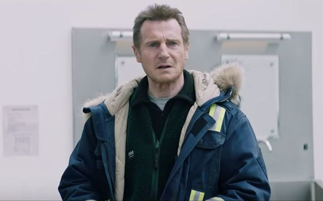 "Liam Neeson as Nels Coxman in ""Cold Pursuit\""."