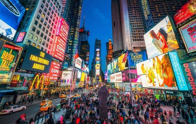 Times Square in midtown Manhattan