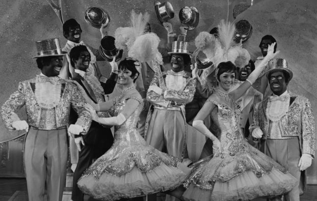 Dancers from \'The Black and White Minstrel Show\'.