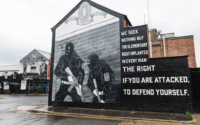 Lest we forget: Murals left over from the Troubles in east Belfast, in Northern Ireland.