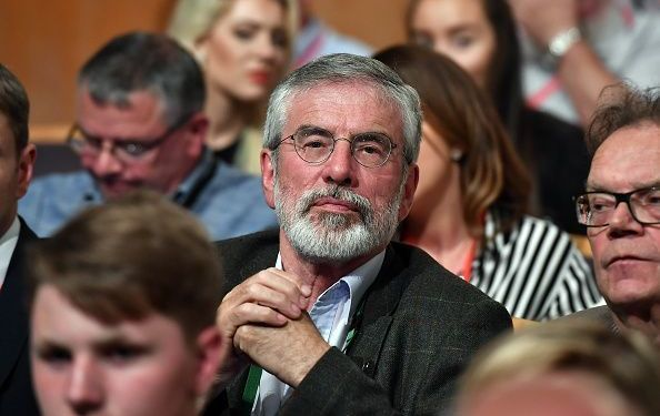 Former Sinn Fein President Gerry Adams pictured in the crowd before current Sinn Féin President Mary Lou McDonald makes her keynote speech during the Sinn Fein Ard Fheis at Waterfront Hall on June 16, 2018, in Belfast, Northern Ireland.