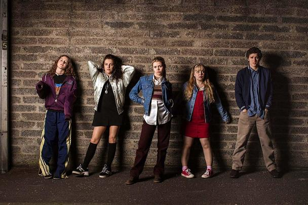 Cast members of the hit TV series, Derry Girls.