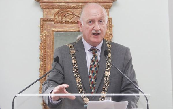 Pictured is Lord Mayor of Dublin, Nial Ring, spekaing at the official opening of Dublin's newest museum, 14 Henrietta Street.