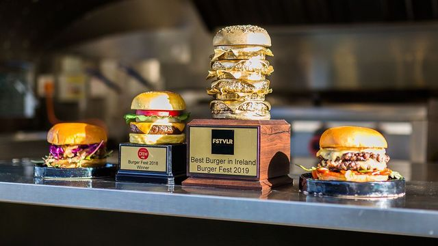 The Golden Burger trophy at The Hatch food truck