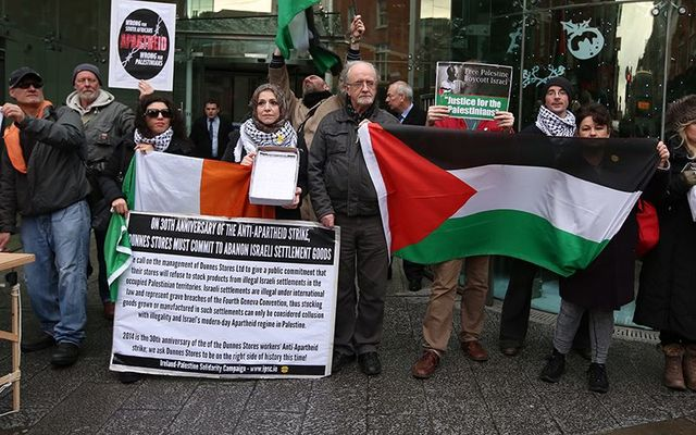 Members and supporters of the Ireland Palestine Solidarity Campaign.
