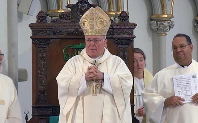 The accused Bishop Richard Malone.