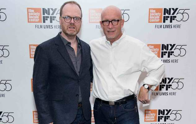 Trevor Birney and Alex Gibney attend the 55th New York Film Festival - \'No Stone Unturned\' at The Film Society of Lincoln Center, Walter Reade Theatre on September 30, 2017, in New York City.