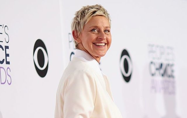 TV personality Ellen DeGeneres attends The 41st Annual People\'s Choice Awards at Nokia Theatre LA Live on January 7, 2015, in Los Angeles, California.