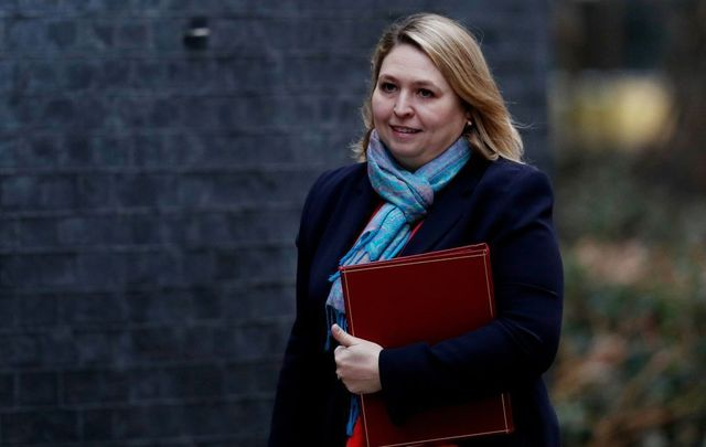 Britain\'s Northern Ireland Secretary Karen Bradley arrives or the weekly cabinet meeting at 10 Downing Street in London on January 15, 2019.