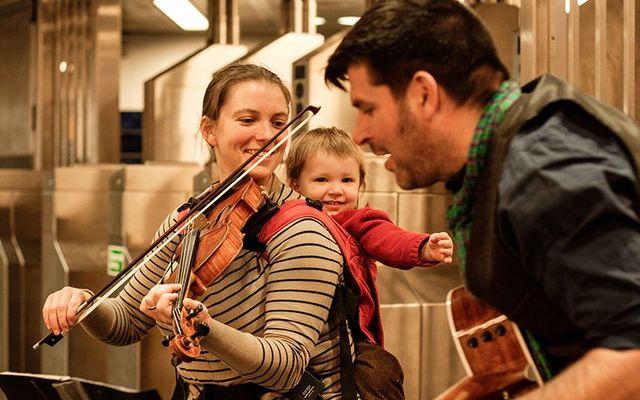Naomi Morse and Emmet McGowan, with baby Ronan.