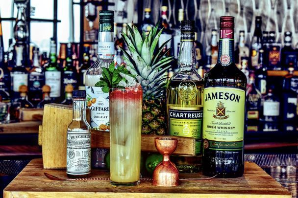 Irish tricolor cocktails for St. Patrick\'s Day.