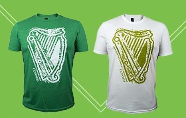 20aaf8190 Guinness has got you covered for St. Patrick's Day with these green and  white t