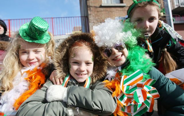 Celebrating in Dublin at the St Patricks Day Parade.