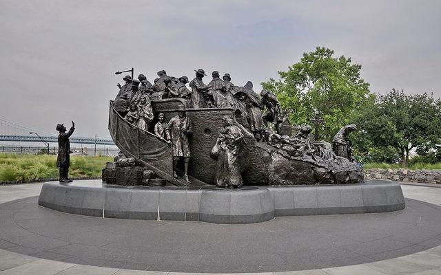 The Irish Memorial at Penn\'s Landing in Philadelphia.