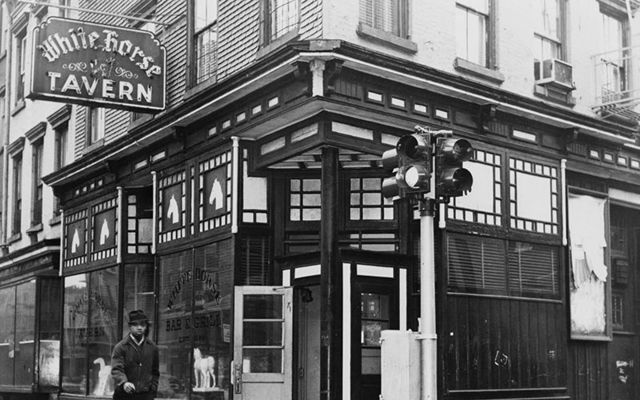 The White Horse Tavern, on the corner of Hudson St and West 11th, in 1961.
