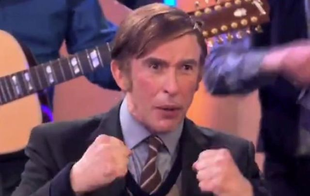 Steve Coogan plays an Irish farmer who sings rebel tunes on the BBC on this week\'s \'This Time with Alan Partridge\'