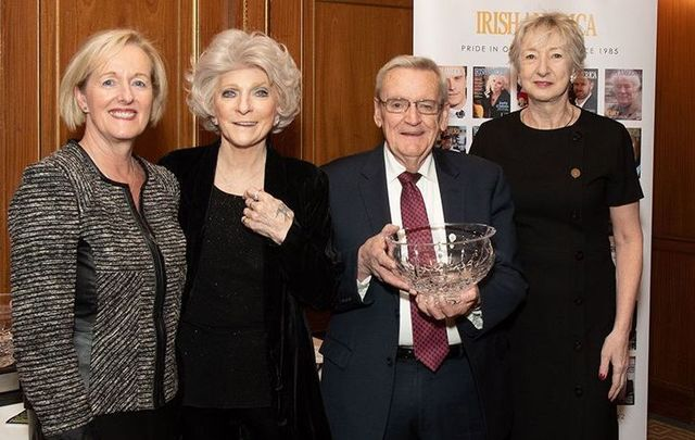 Aine Sheridan, Judy Collins, Adrian Flannelly and Irish America editor-in-chief Patricia Harty at the Hall of Fame luncheon.