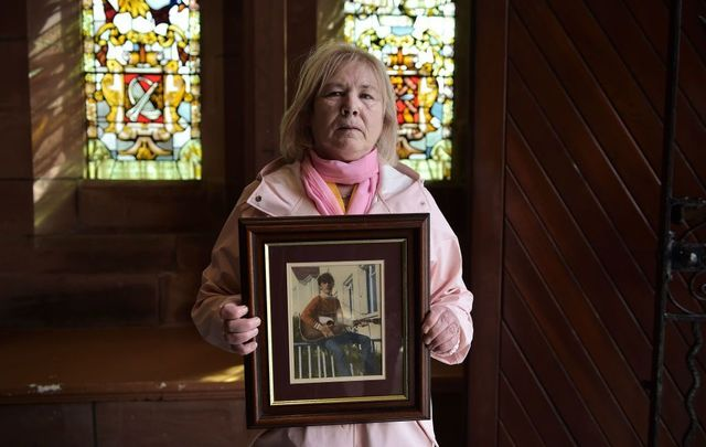 Family members of Bloody Sunday victims grieve.